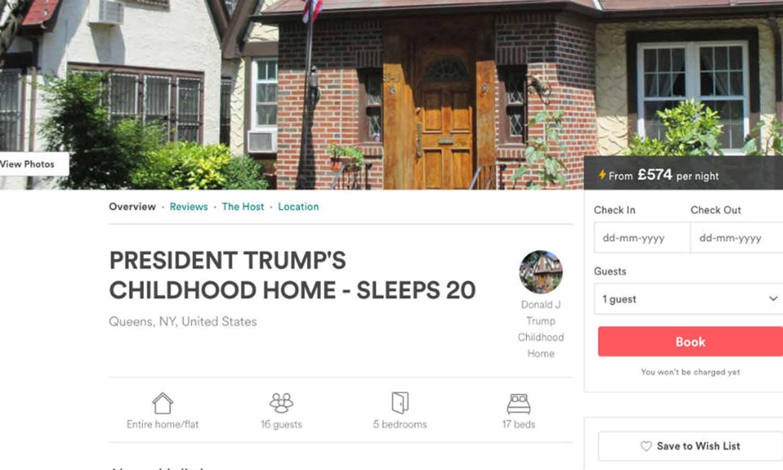 Louez la maison d'enfance de Donald Trump !