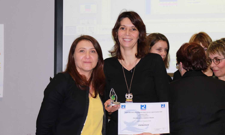 Immonot reçoit  le Prix Bonnes Pratiques 2018  pour la catégorie PME