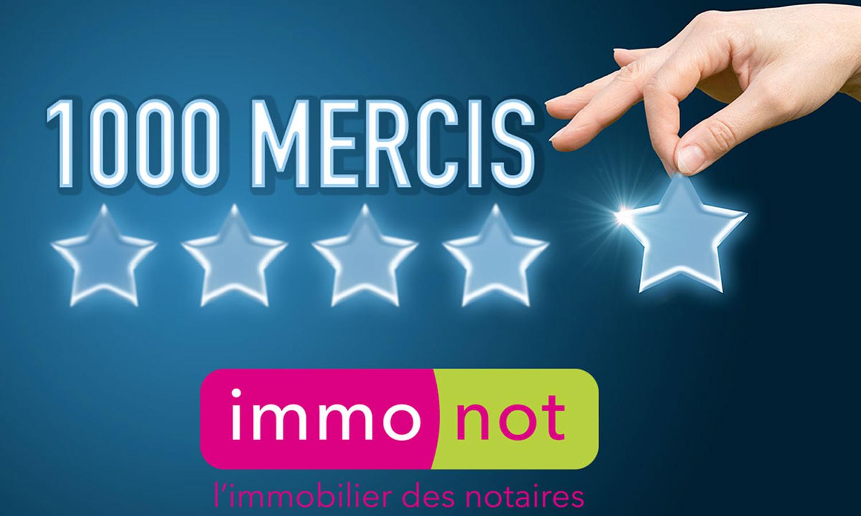Le site immonot.com vient de recueillir 1000 avis avec une note moyenne de 4,16/5.