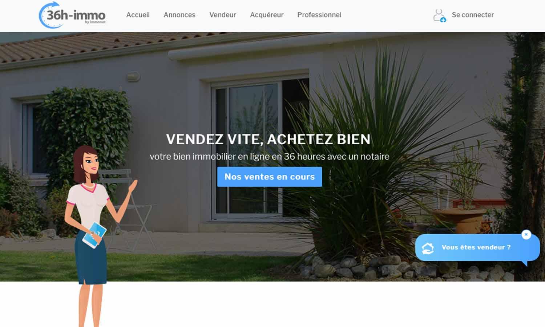 Le nouveau site 36h immo révolutionne les ventes interactives