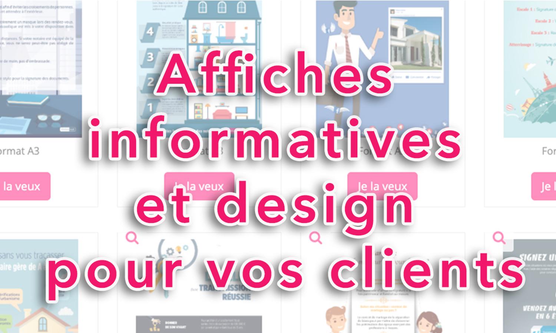 Téléchargez des affiches informatives et design pour vos clients !
